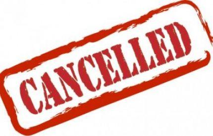 Тренировките за понеделник 09/януари се отменят!